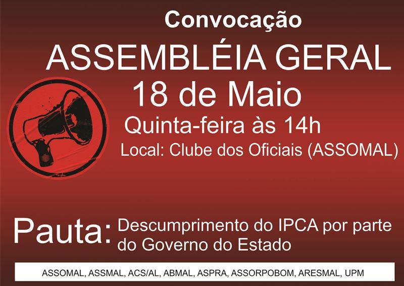 URGENTE - CONVOCAÇÃO DE ASSEMBLÉIA GERAL