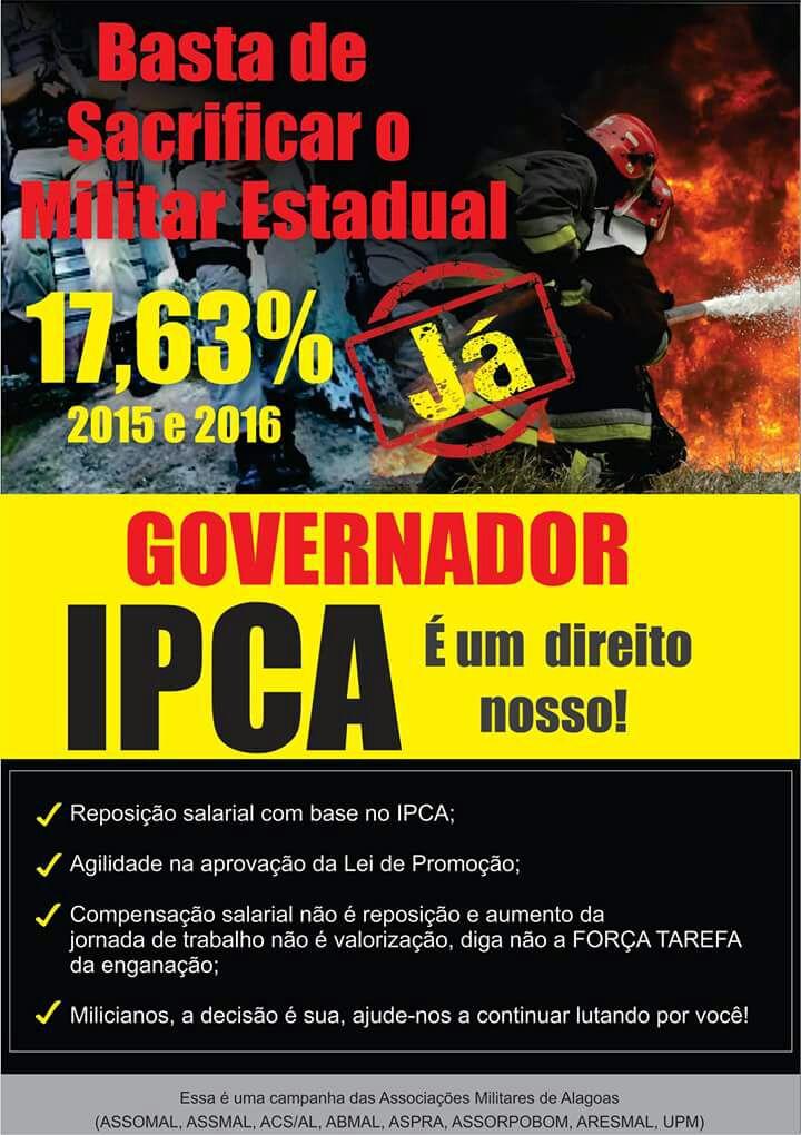 IPCA - URGENTE - Representantes das Associações Militares estiverem no estádio Rei Pelé conversado com a tropa de serviço sobre as mobilizações que serão feitas