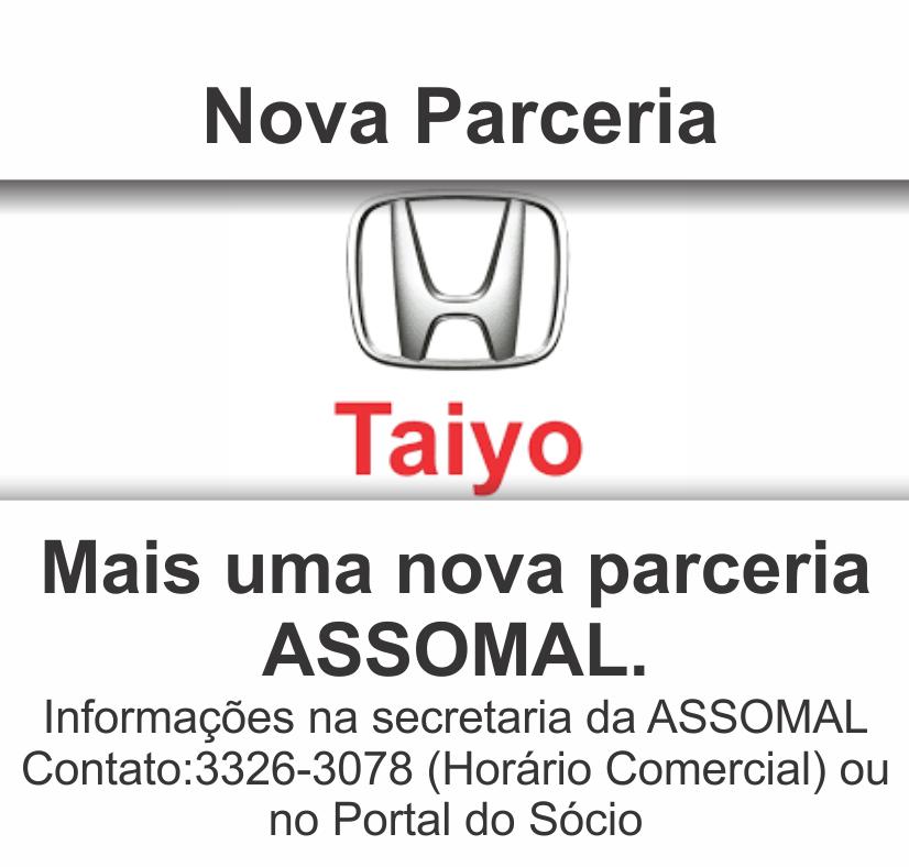 Nova Parceria - Taiyo Honda