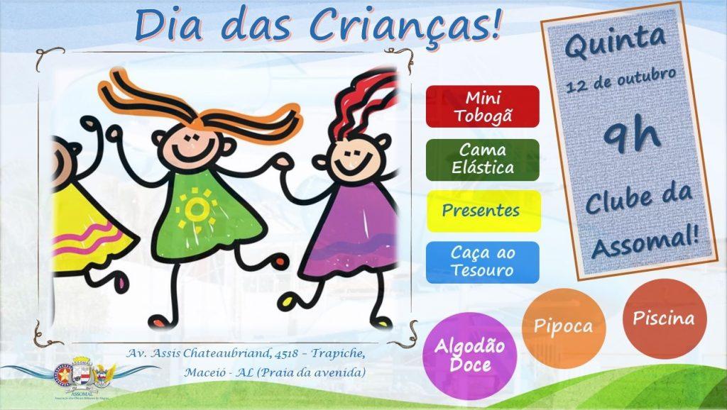 Assomal promove evento para as crianças na sede do seu clube neste dia 12 de outubro