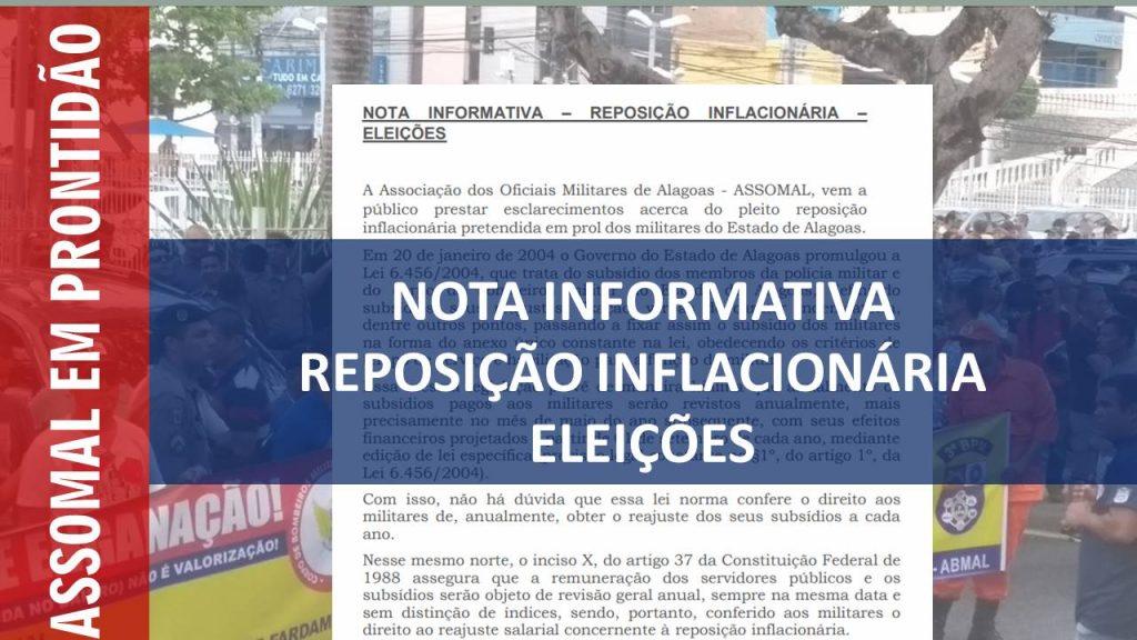 Leia na Integra a Nota Informativa sobre Reposição Inflacionária em ano Eleitoral