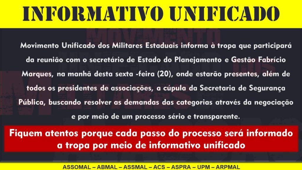 Informativo Unificado nº 01 - Movimento Unificado dos Militares de Alagoas