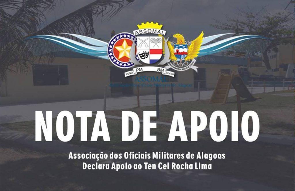 Associação dos Oficiais Militares de Alagoas Declara Apoio ao Ten Cel Rocha Lima