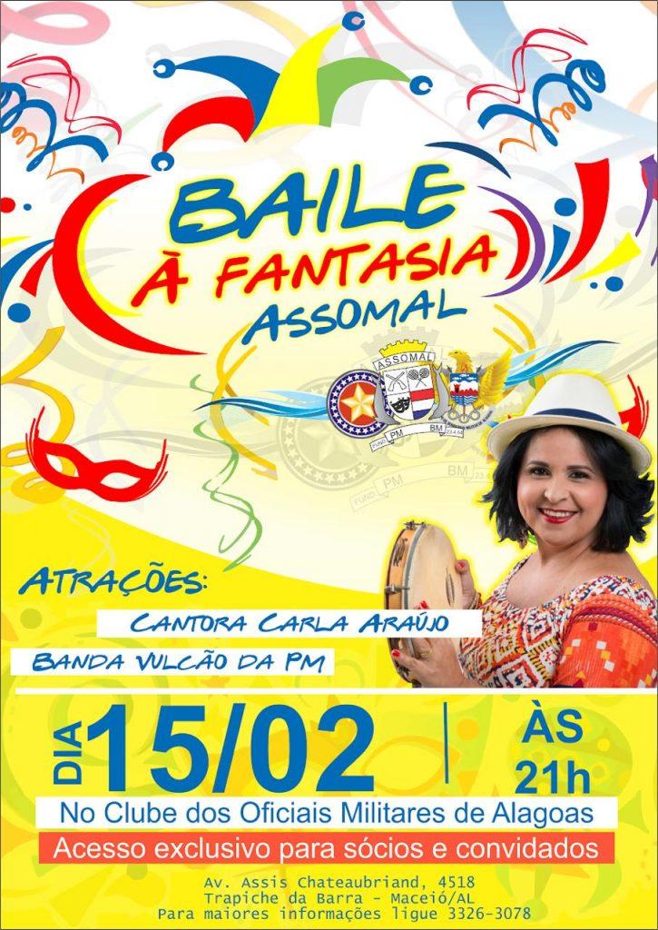 Assomal promove Baile à Fantasia para sócios e convidados na sexta (15); o repertório vai ter samba, marchinhas e frevo