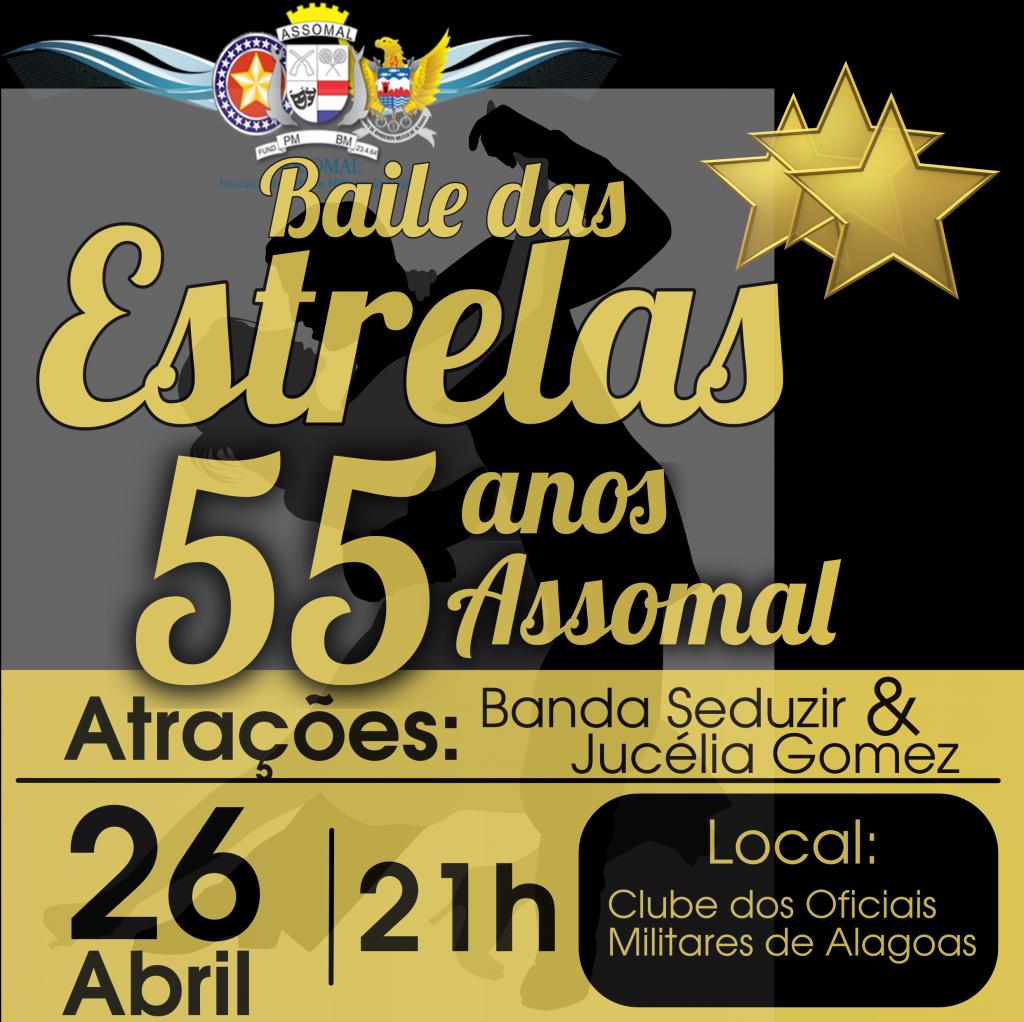 Assomal comemora 55º aniversário com edição especial do Baile das Estrelas na próxima sexta (26)