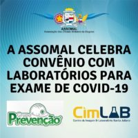 Assomal fecha parceria com laboratórios para exames de covid-19.